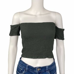 NEW Alya Green Tube Top with Sleeves Size L